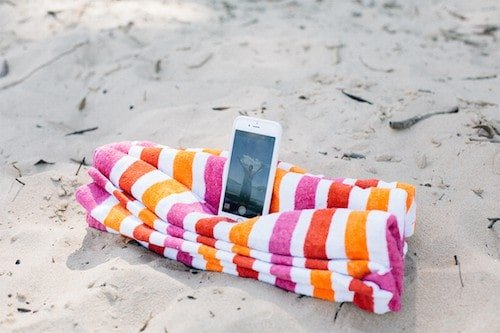 Beach Towel Selfie Stand by Smart School House
