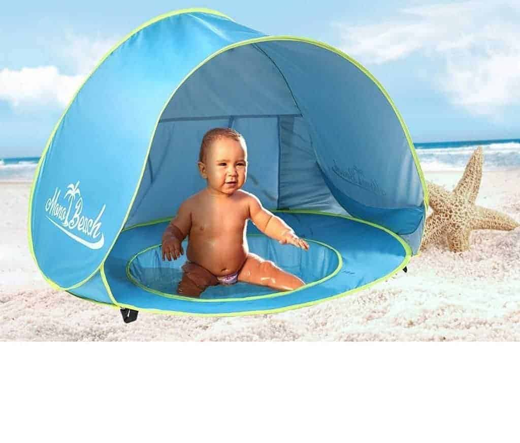 Beach baby tent and pool - perfect for shading baby but keeps them nice and cool and safe