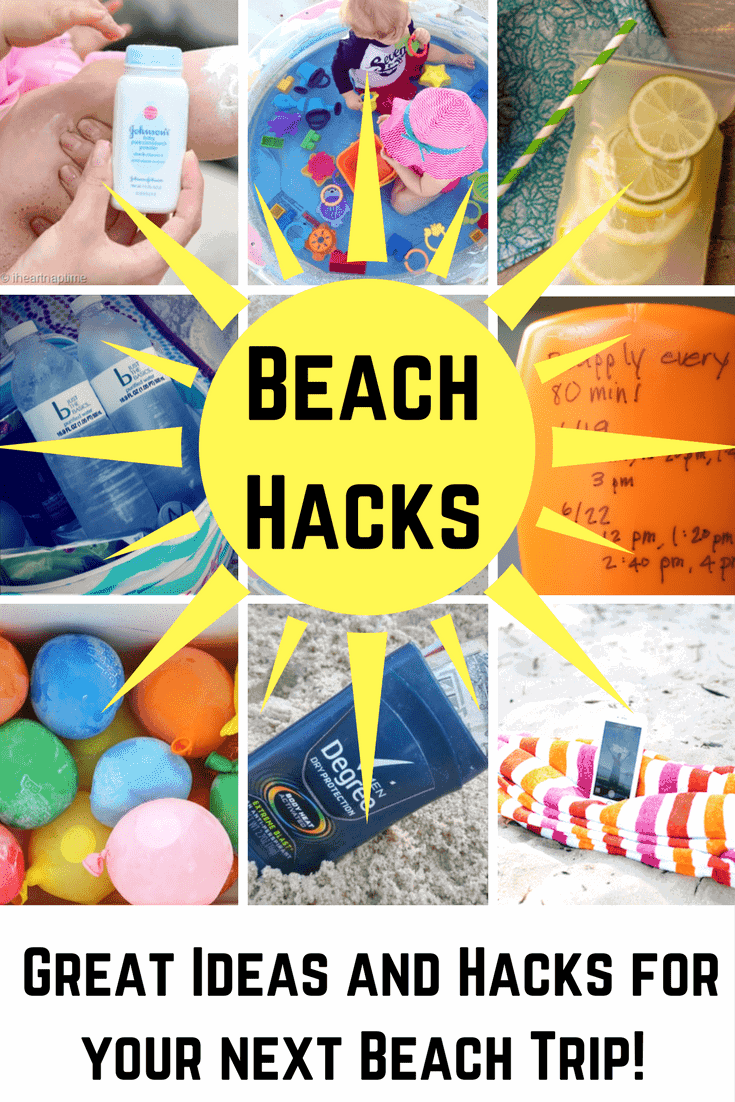 The Best Beach Hacks Around: Save time, money and energy with these great tips and summer hacks to make your beach trip the most fun ever!