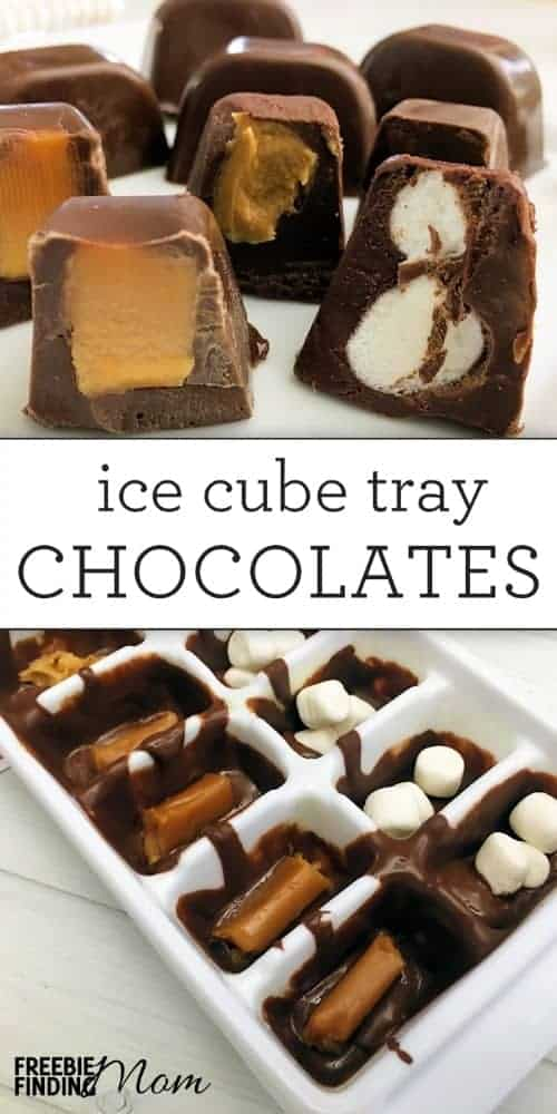 Chocolate Candies from an Ice Tray from Freebie Finding Mom | The Coolest Ice Cube Tray Hacks Around. Those plastic trays can be used to make so much more than just ice!
