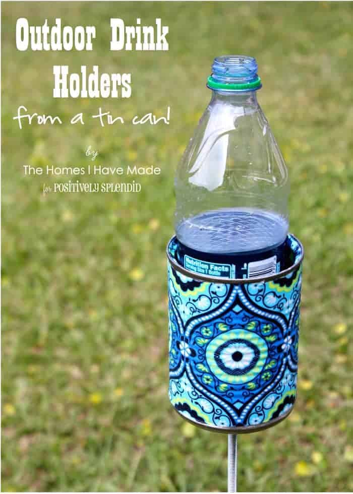 DIY outdoor drink holder from Modpodge Rocks and other great BEACH HACK AND TIPS