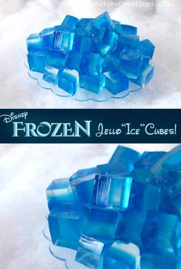 Disney Frozen Jello Ice Cube Hack from Sprinkle Some Fun and other great Ice cube tray hacks