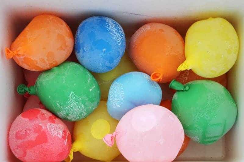 Frozen Water Balloons for a Cooler by Brit & Co