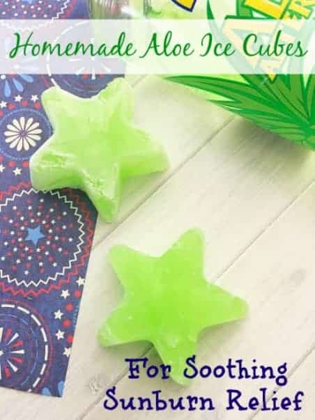 Homemade Aloe Ice Cubes from Masshole Mommy