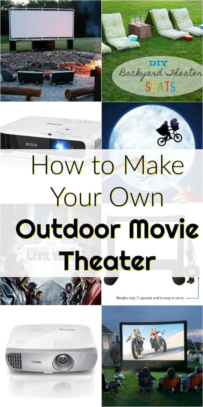How to make your own backyard movie theater! Everything you need to make an outdoor movie theater