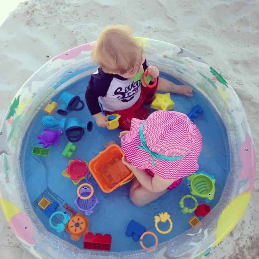 Kiddie Pool for Baby at the Beach by Baton Rouge Moms