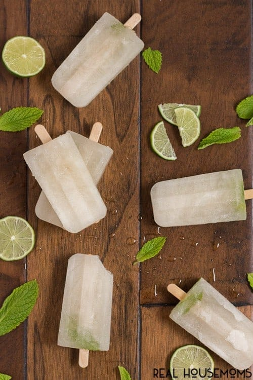 Mojito Popsicles by Real Housemoms and other amazing boozy popsicle recipes!