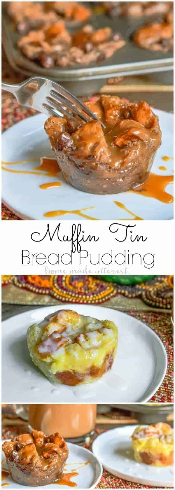 Muffin Tin Bread Pudding by Home Made Interest | Muffin Tins are for more than just cupcakes and muffins. You are going to love these muffin tin recipes!