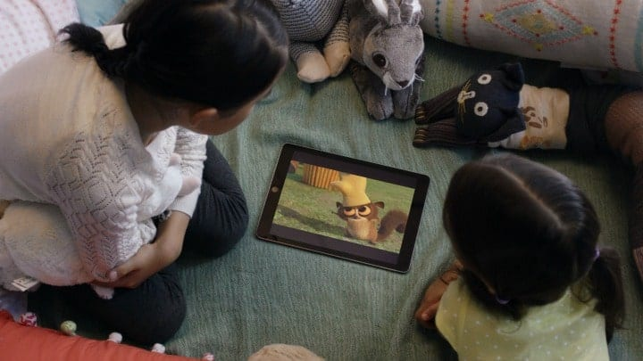 Netflix kids watching ipad