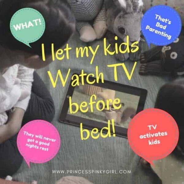I let my kids watch TV before bed and it helps them fall asleep easier