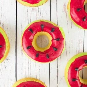 Watermelon Doughnuts – An EASY Summer Dessert!