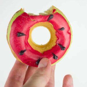 Watermelon doughnut recipe tutorial