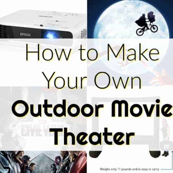 how to make your own backyard movie theater featured image