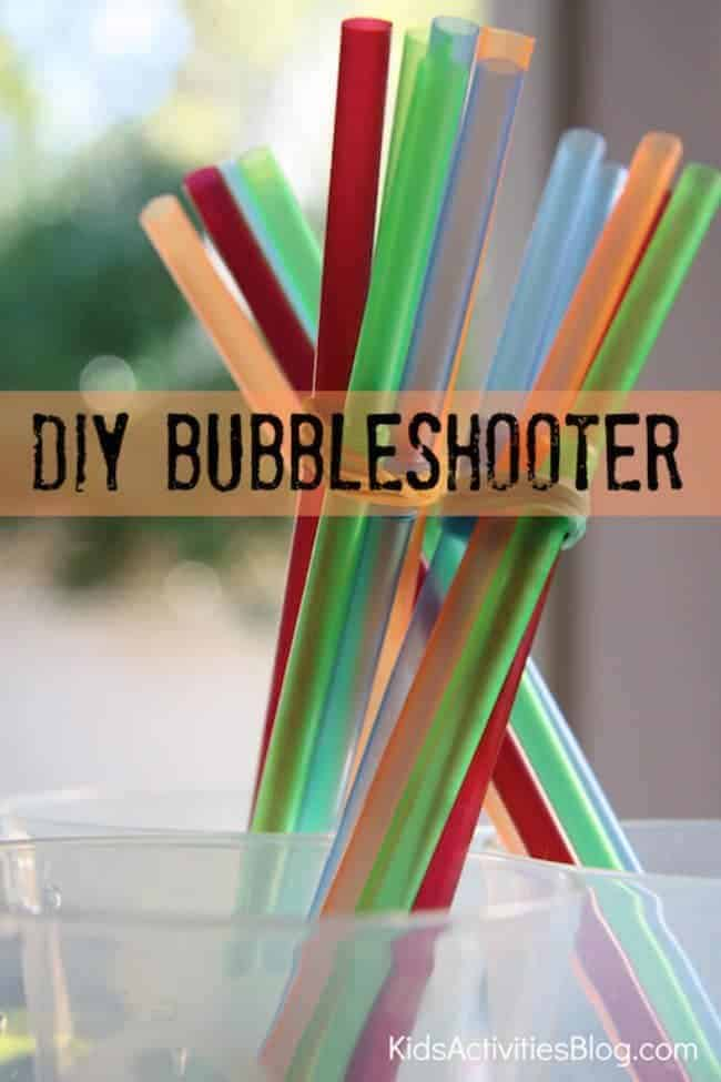 DIY Bubbleshooter by Kids Activities Blog | Get outdoors and have some fun with the family with these fun ideas for outdoor activities for kids!