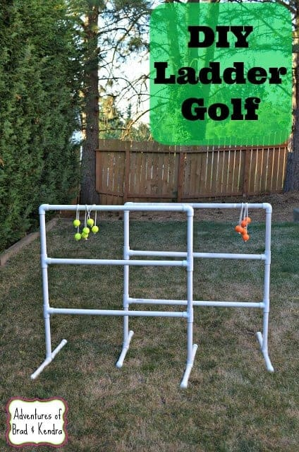 DIY Ladder Golf by Simply Darrling | Get outdoors with the family and have some fun with these great ideas for outdoor activities for kids.