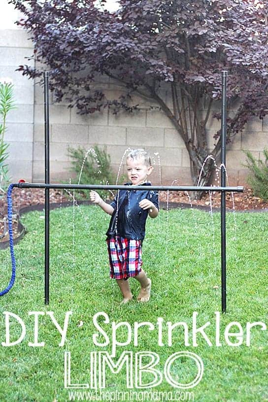 DIY Sprinkler Limbo by The Pinning Mama | Get outdoors with the family and have some fun with these great ideas for outside activities for kids!