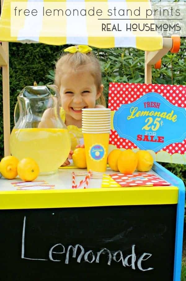Free Lemonade Stand Printables by Real Housemoms | Get outdoors and have some fun with your family with these ideas for outdoor activities with kids!