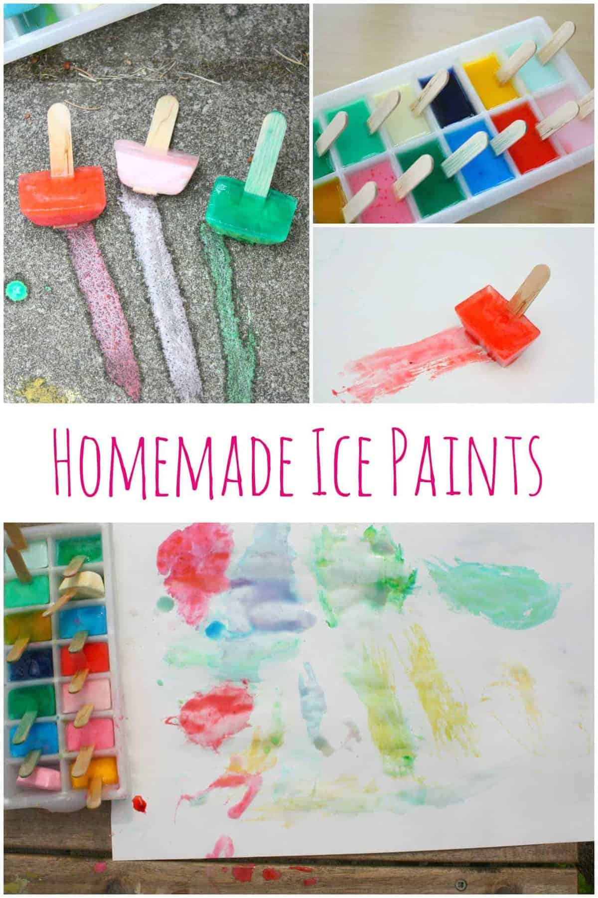 Homemade Ice Paints by Emma Owl | Get outside with the family with these great ideas for outdoor activities for kids!