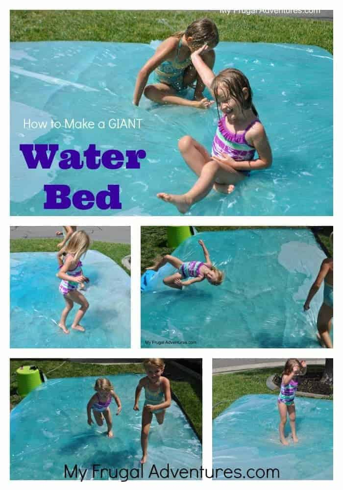 How to Make a Giant Water Bed by My Frugal Adventures | Have some fun with your family outdoors with these great ideas for outdoor activities for kids.