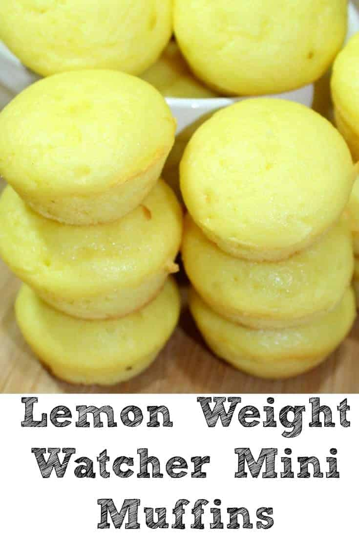 Lemon Weight Watchers Mini Muffins by Penny Pincher Jenny