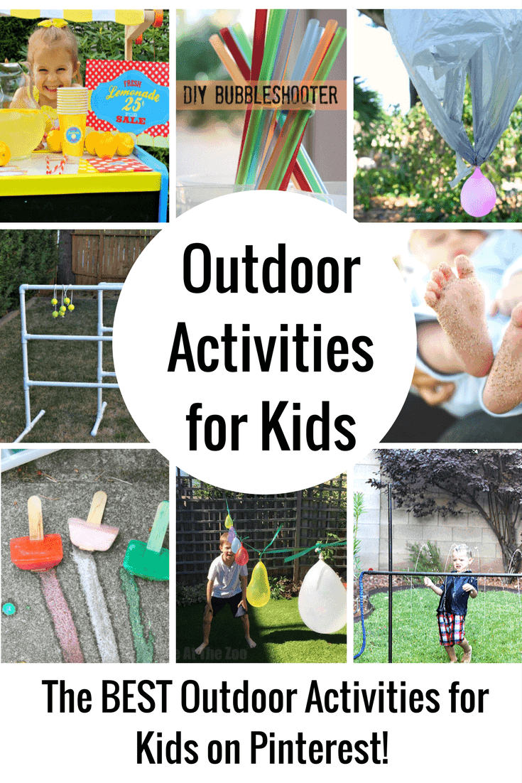 Outdoor Activities for Kids - easy to make backyard outdoor activities for your family!