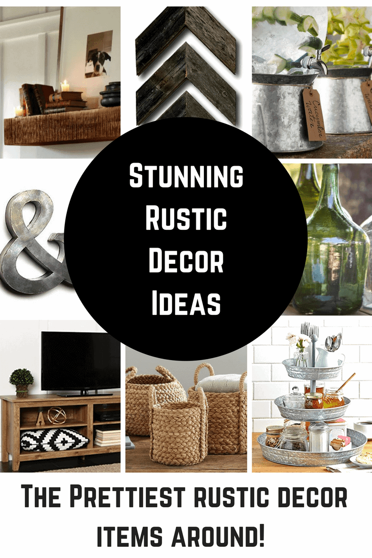 I am really loving all of the rustic home decor ideas that are so popular right now. I love it when old things become new again, especially when it comes to decorating my home and DIY'ing.