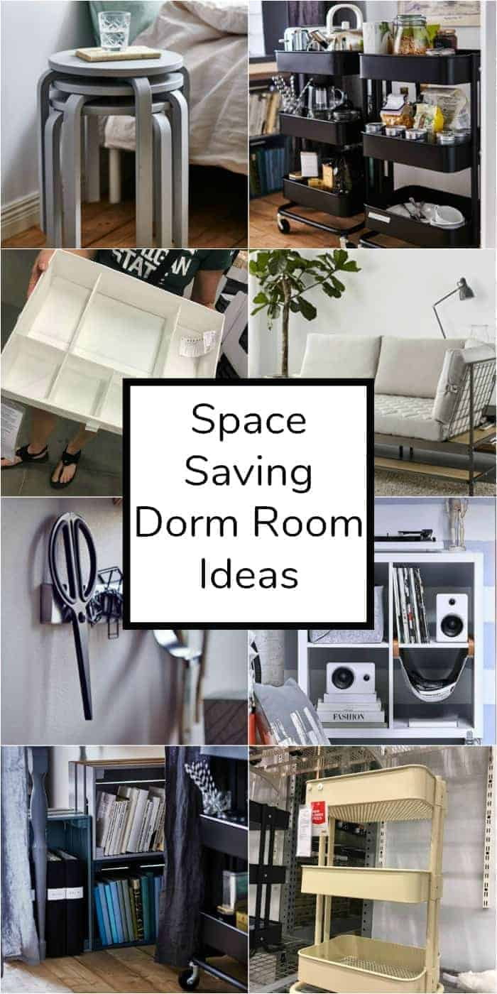 Heading off to college and looking to make the most out of your dorm room space? These space saving dorm room ideas will not only maximize your dorm room space, but will make it feel like a true home away from home!
