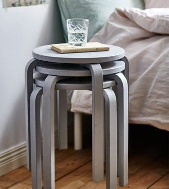 Nesting side tables are great for a small space
