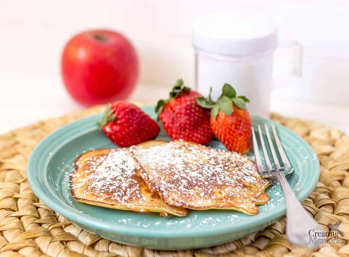 Weight Watchers Apple Fritters Pancakes by Busy Creating Memories