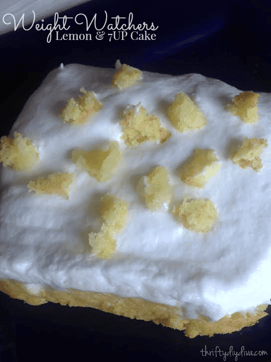 Weight Watchers Lemon and 7up Cake Recipe by Thrifty Diva