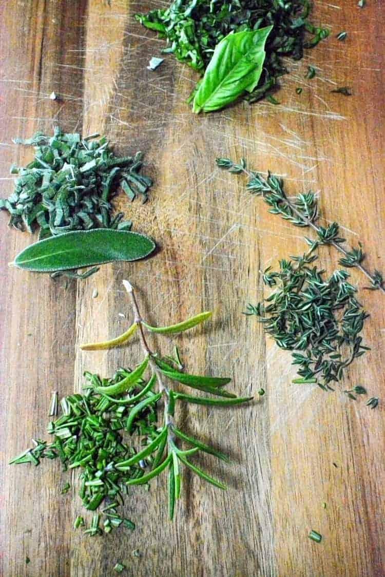 Brie herbs fresh