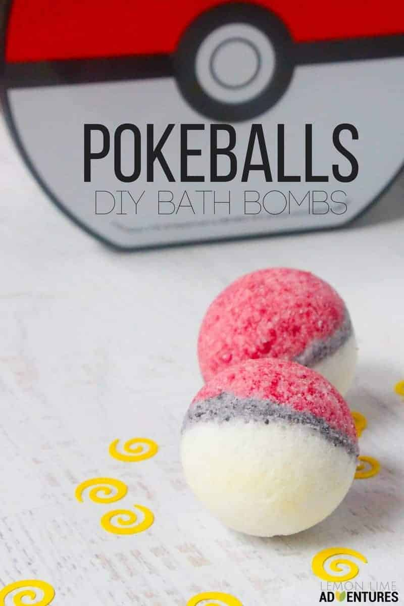 DIY Pokemon Bath Bombs by Lemon Lime Adventures | Make Your Own Luxurious Bath Bombs with these 15 Awesome DIY Bath Bomb Recipes