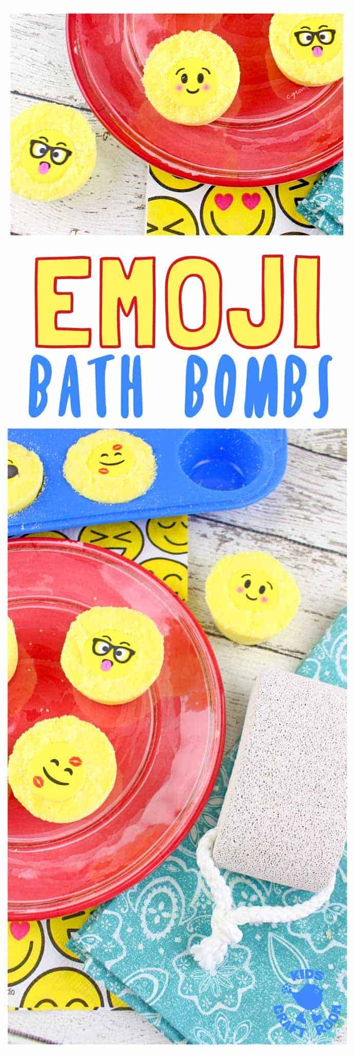 Emoji Bath Bombs by Kids Craft Room | Make Your Own Luxurious Bath Bombs with these 15 Awesome DIY Bath Bomb Recipes