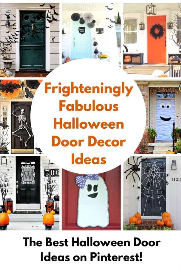 Halloween Door Decorating Ideas are a great way to add some Halloween magic to your house. These easy Halloween front door ideas will give you the best looking porch on the block!