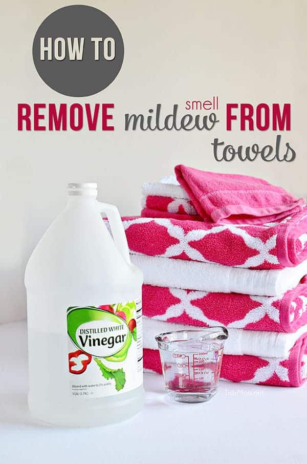 No more stinky towels! Learn how to remove mildew smell from towels by Tidy Mom | Smell Hacks that will leave your home smelling amazing!