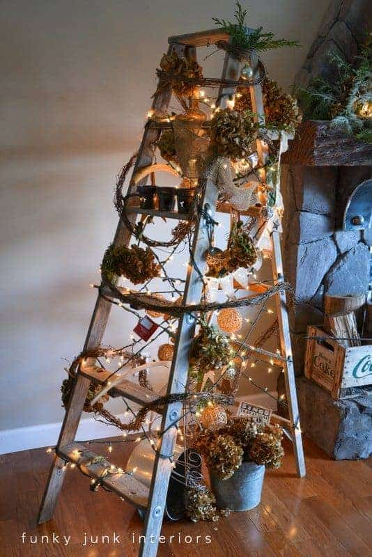 vintage ladder tree by funky junk interiors totally cool and unique christmas tree ideas