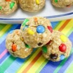 No Bake Monster Cookie Oatmeal Energy Balls featured image
