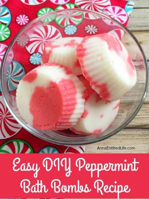 Peppermint Bath Bombs by Anns Entitled Life | Make Your Own Luxurious Bath Bombs with these 15 Awesome DIY Bath Bomb Recipes