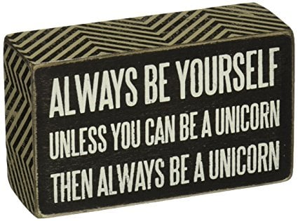 Primitive Unicorn Box Sign | Dozens of Magical Unicorn Ideas for Kids of All Ages!