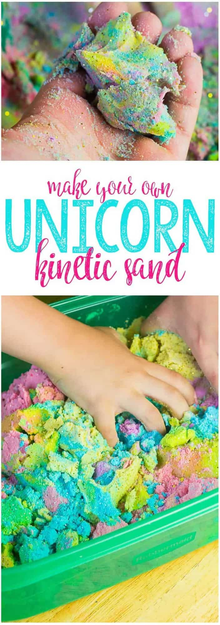 Unicorn Kinetic Sand by Mama Plus One | Dozens of Magical Unicorn Ideas for Kids of All Ages!