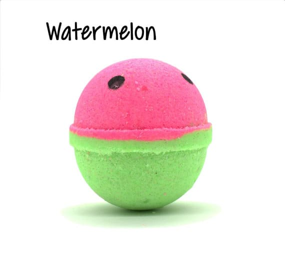 Watermelon Bath Bomb | Make Your Own Luxurious Bath Bombs with these 15 Awesome DIY Bath Bomb Recipes