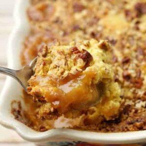 Gooey Caramel Apple Dump Cake Recipe