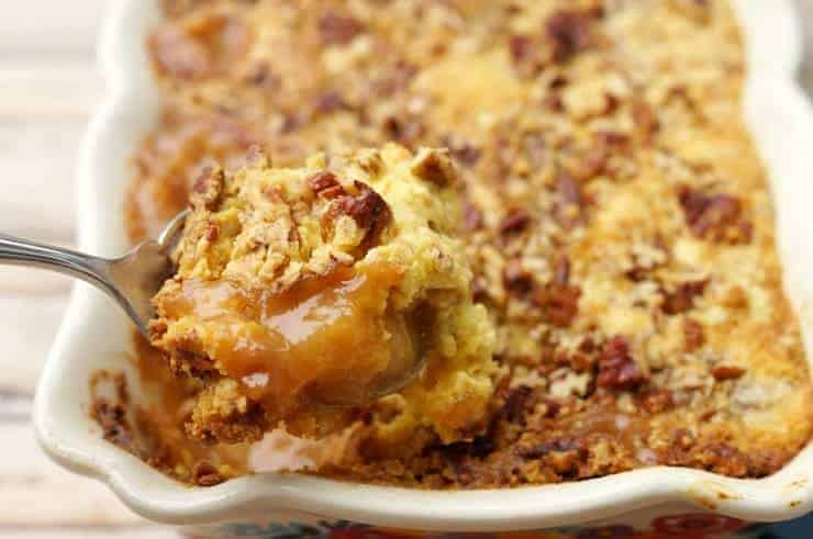 spoon full of apple dump cake