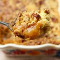 Caramel apple dump cake with pecans