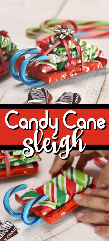 candy cane sleigh pinterest