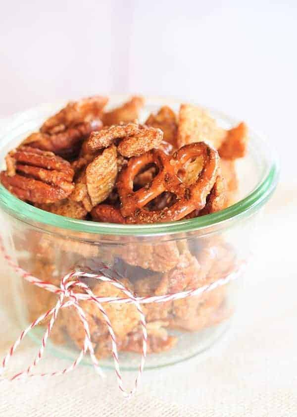 Cinnamon Sugar Candied Chex Mix by Brown Eyed Baker and other amazing Chex Mix Recipes!