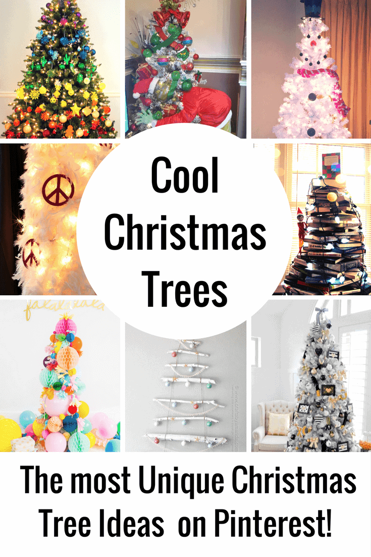 Looking for totally different Christmas Tree Decorating Ideas? These Unique Christmas Trees are going to blow you away!