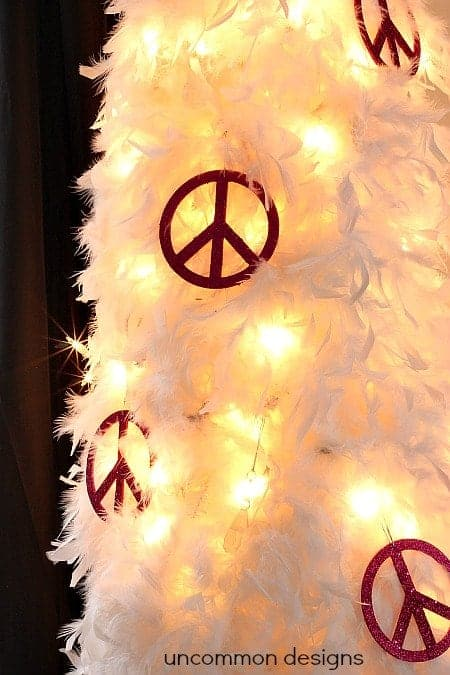 Feather Christmas Tree by Uncommon Designs | and other unique Christmas Tree Decorating Ideas