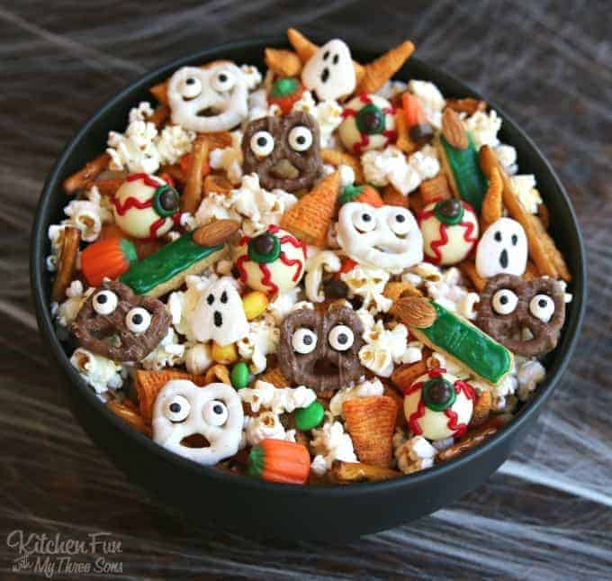 Halloween Snack Mix by Kitchen Fun with My Three Sons and other amazing Chex Mix Recipes!