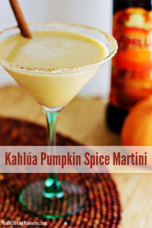 Kahlua Pumpkin Spice Martini by Home Cooking Memories | Pumpkin Spice and Everything Nice: Pumpkin Spice Recipes for Fall